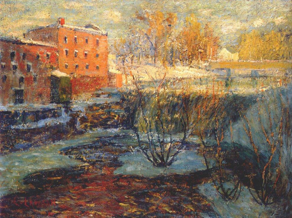 Ernest Lawson. Red mill