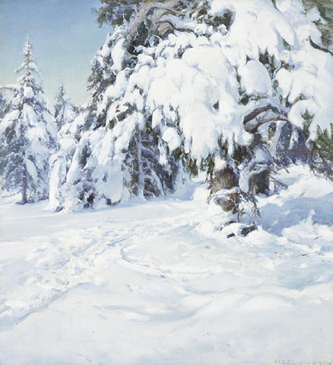 Педер Кнудсен. Зимний пейзаж