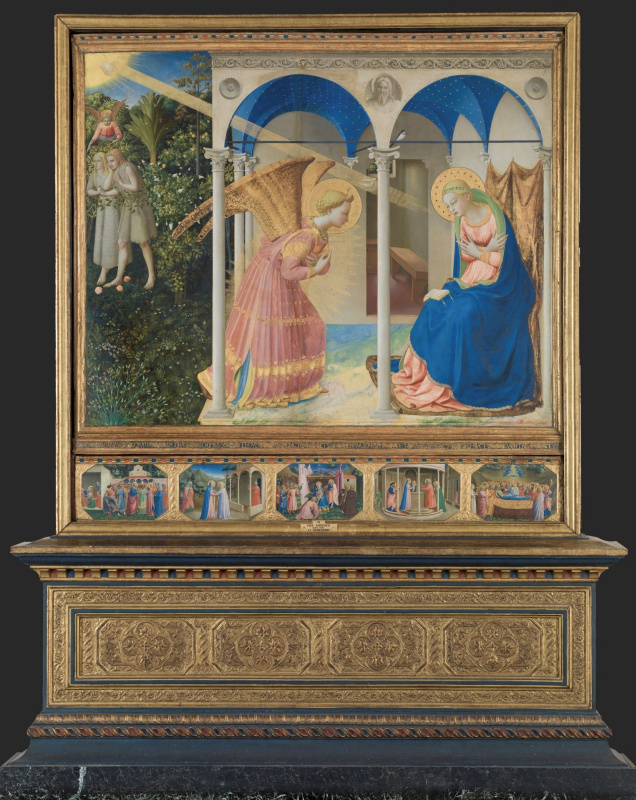 An altar with five limits: Mary's Annunciation