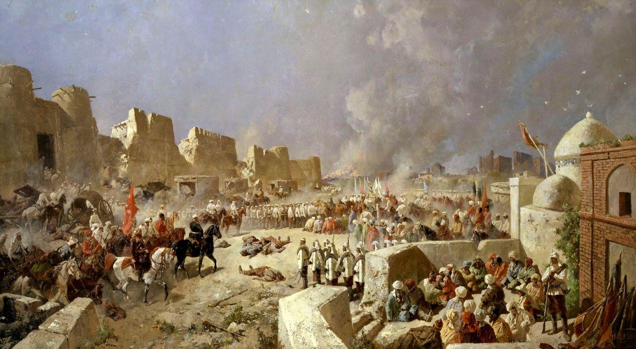 Николай Николаевич Каразин. Вступление русских войск в Самарканд 8 июня 1868 года
