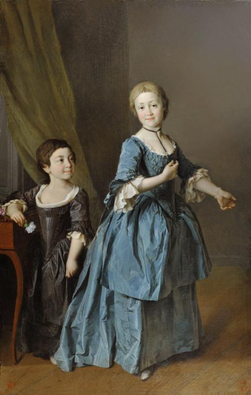 Dmitry Grigorievich Levitsky. Portrait of princesses Davydova and Rzhevskaya and Princess