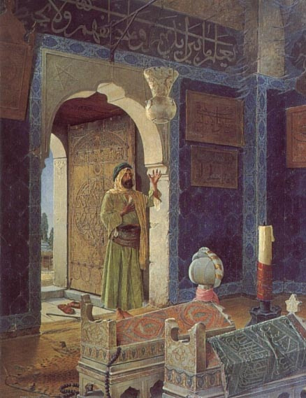 Осман Хамди Бей. Мужчина перед гробницей