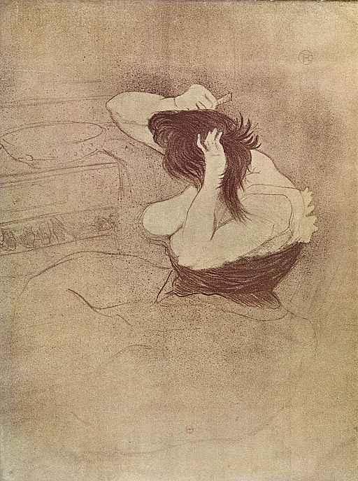 Анри де Тулуз-Лотрек. Причесывающаяся женщина