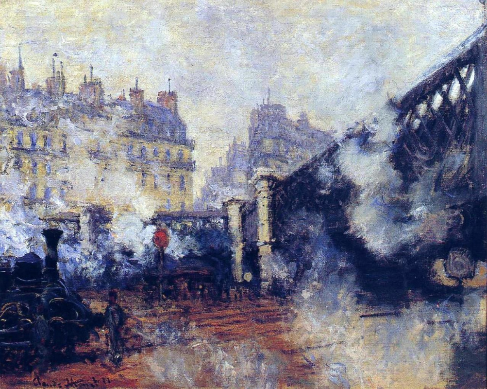 Claude Monet. European bridge, Gare Saint-Lazare