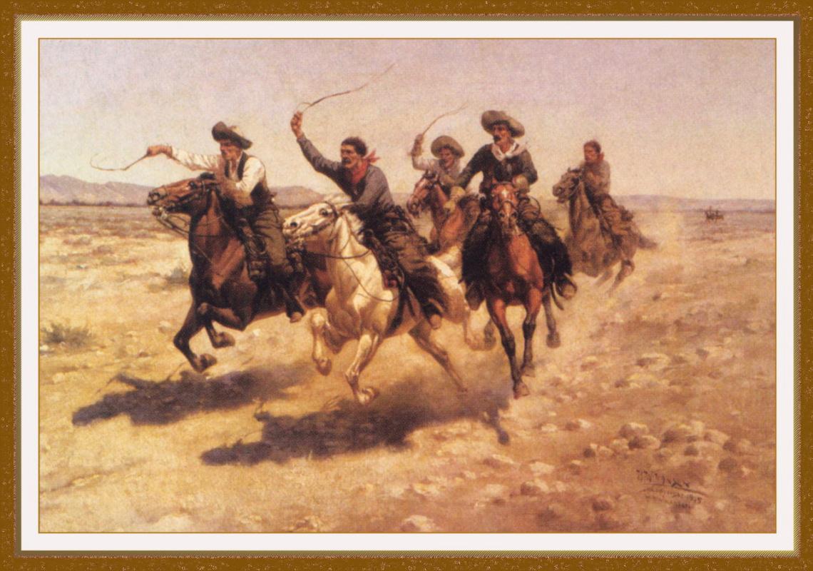 Herman Hansen. Cowboy race