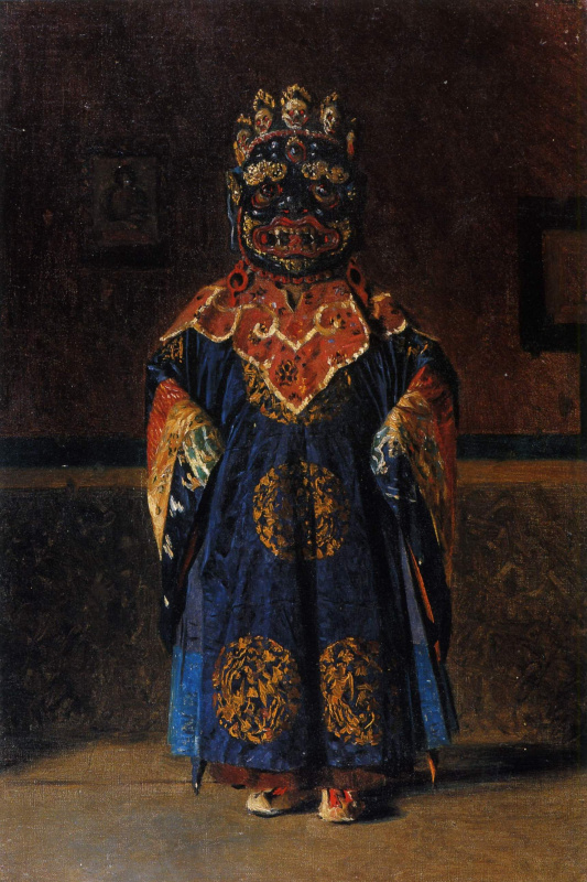 Vasily Vasilyevich Vereshchagin. Lama of the red sect, in full dress