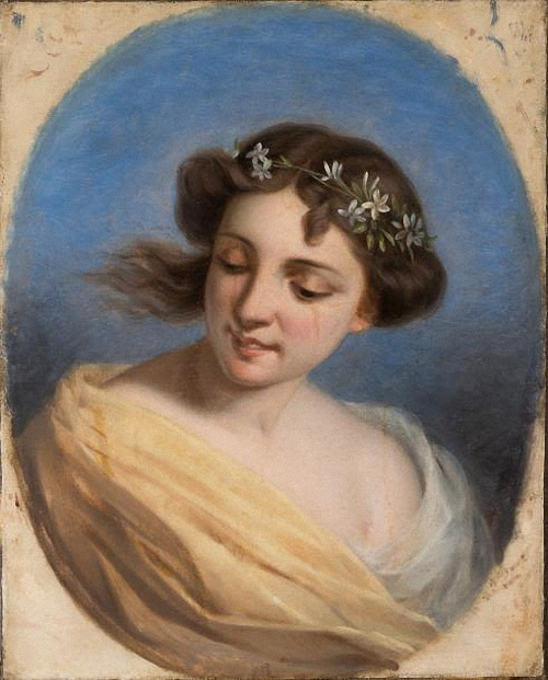 Fedor Petrovich Chumakov. Portrait of a young lady