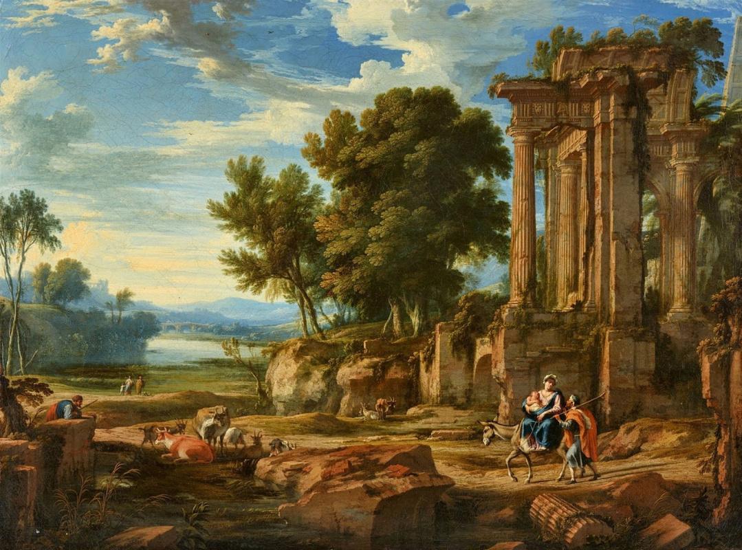 Pierre Patel Elder. Landscape with the Flight into Egypt