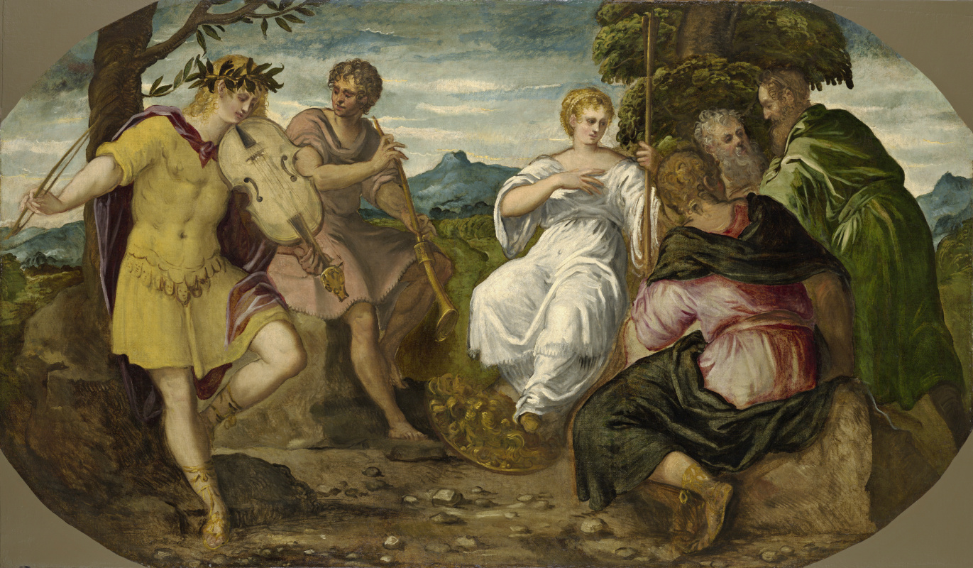 Jacopo (Robusti) Tintoretto. The Contest between Apollo and Marsyas