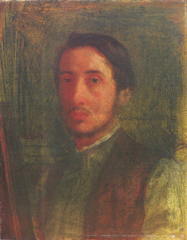 Edgar Degas. Self-portrait in a brown vest