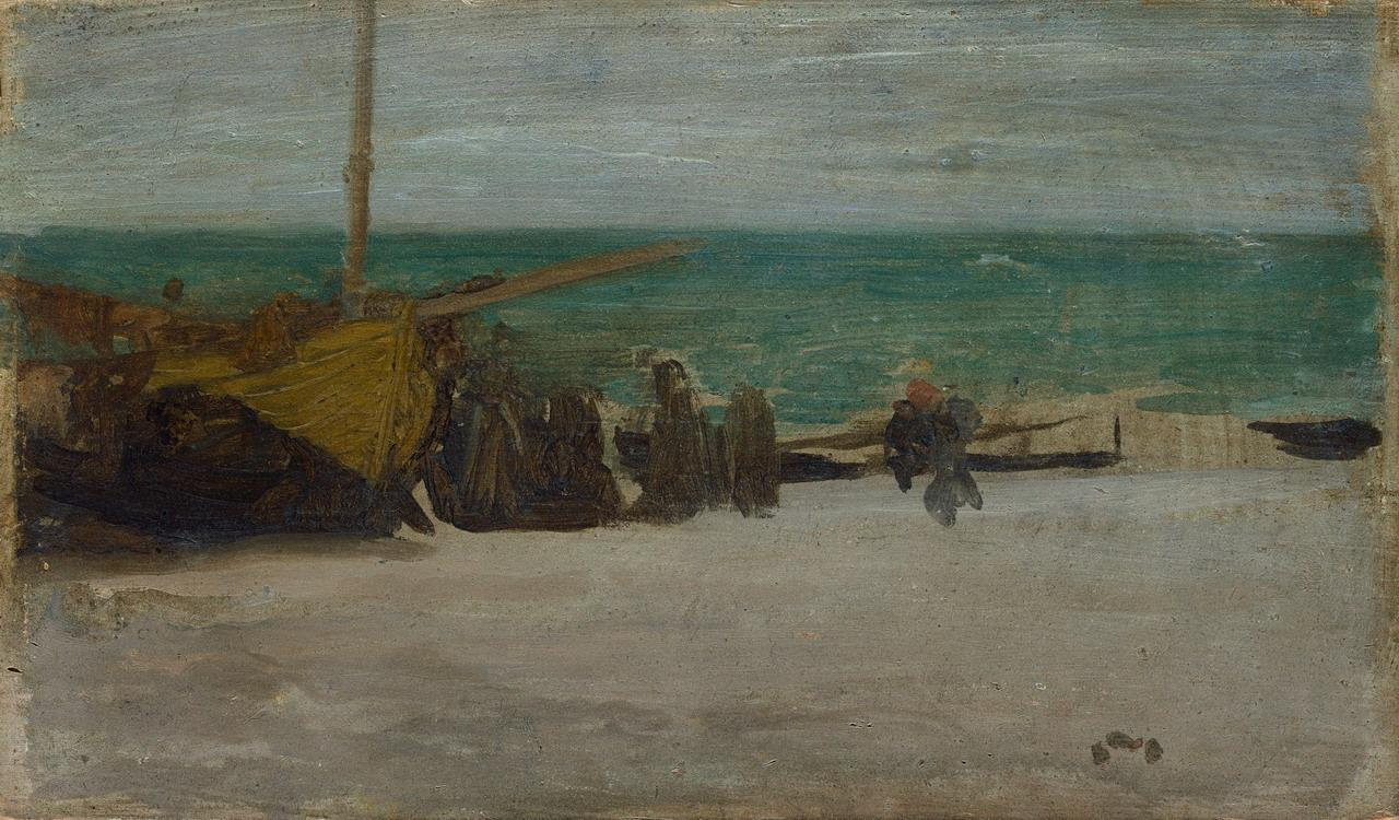 James Abbot McNeill Whistler. Seashore: gray and black (Gray Sea)