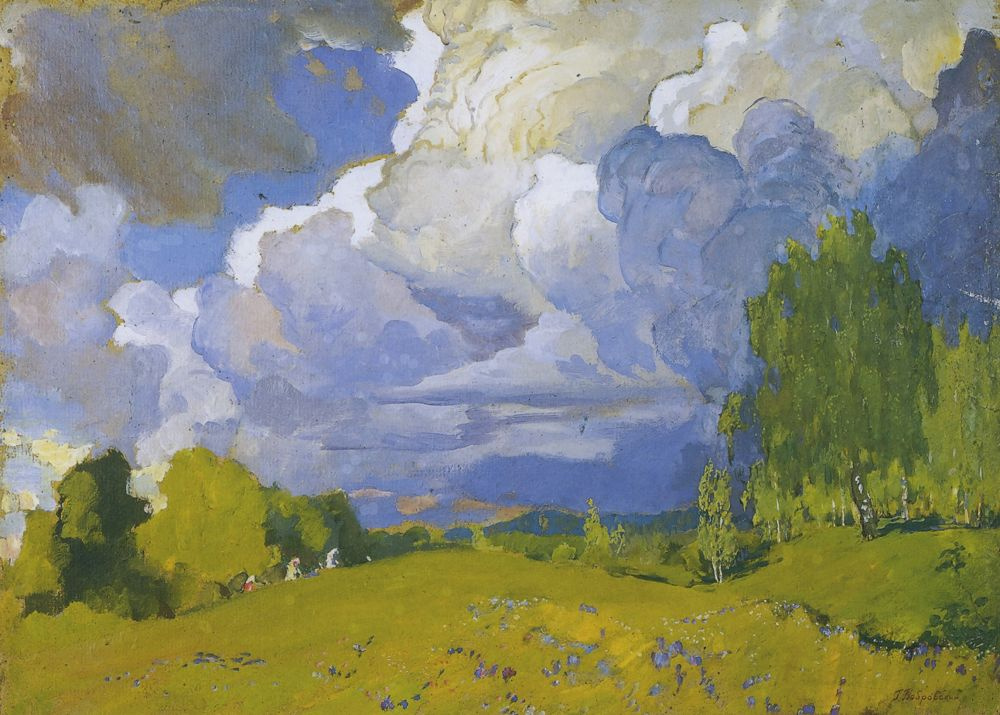 Grigory Mikhailovich Bobrovsky. Landscape with storm cloud
