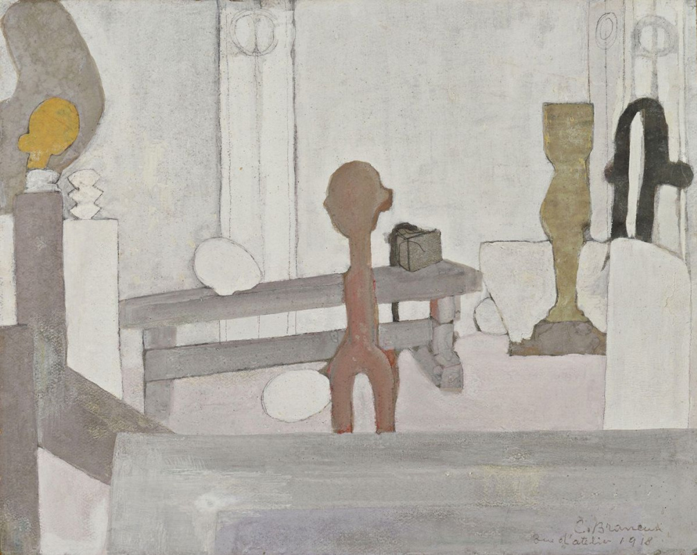 Константин Бранкузи. Вид мастерской художника