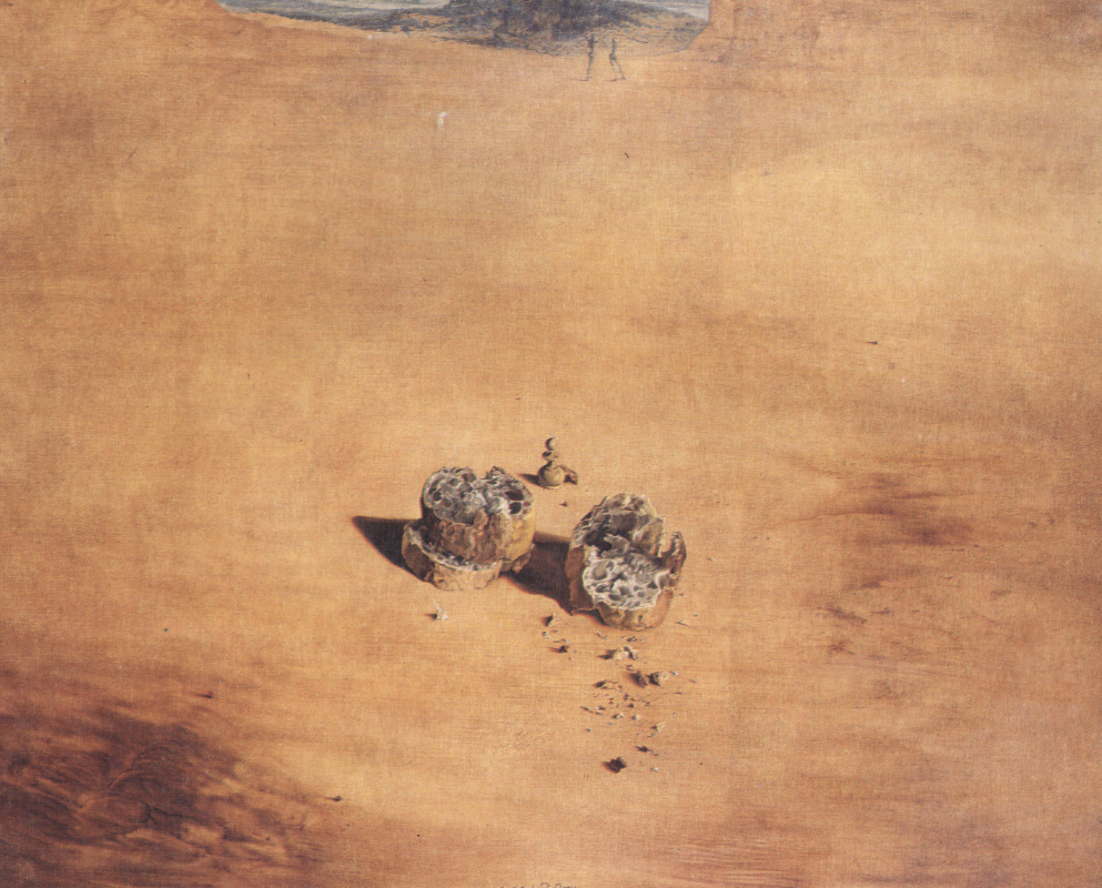 Salvador Dali. Two pieces of bread, expressing the sentiment of love