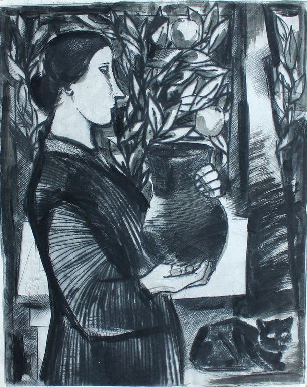 Alexandra Onufrievna Followed. Girl with a jug
