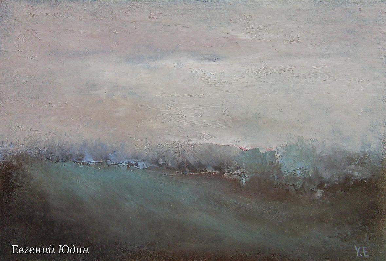 Evgeny Yudin. Spring field, sketch