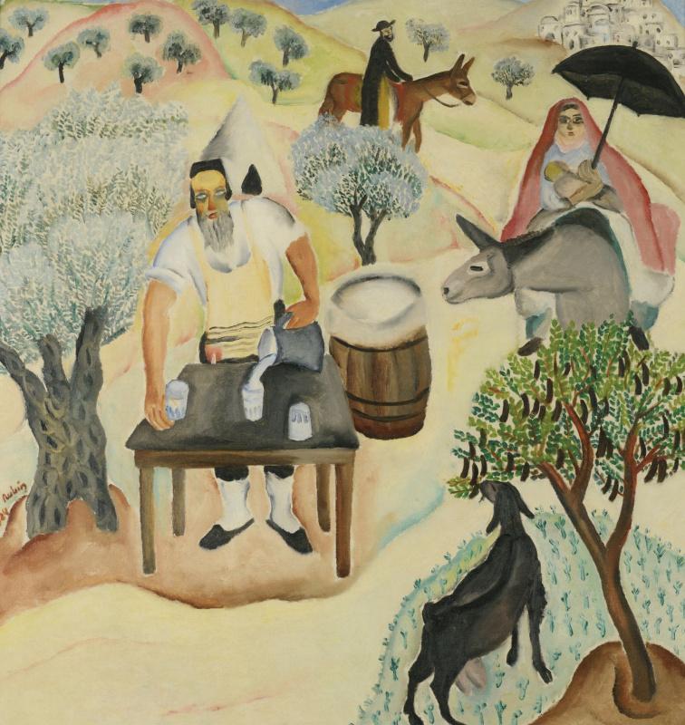 Reuven Rubin. Road to mount Meron