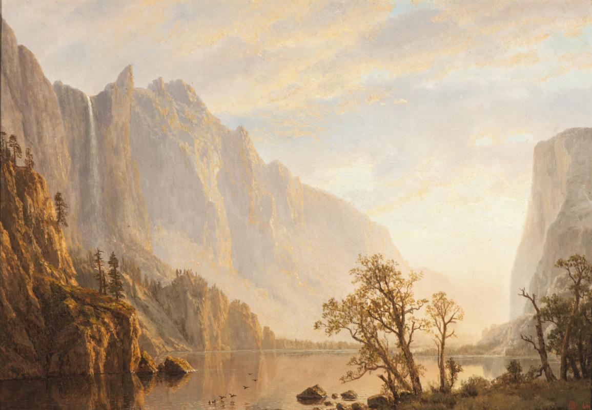 Альберт Бирштадт. Западный пейзаж. Горы над рекой