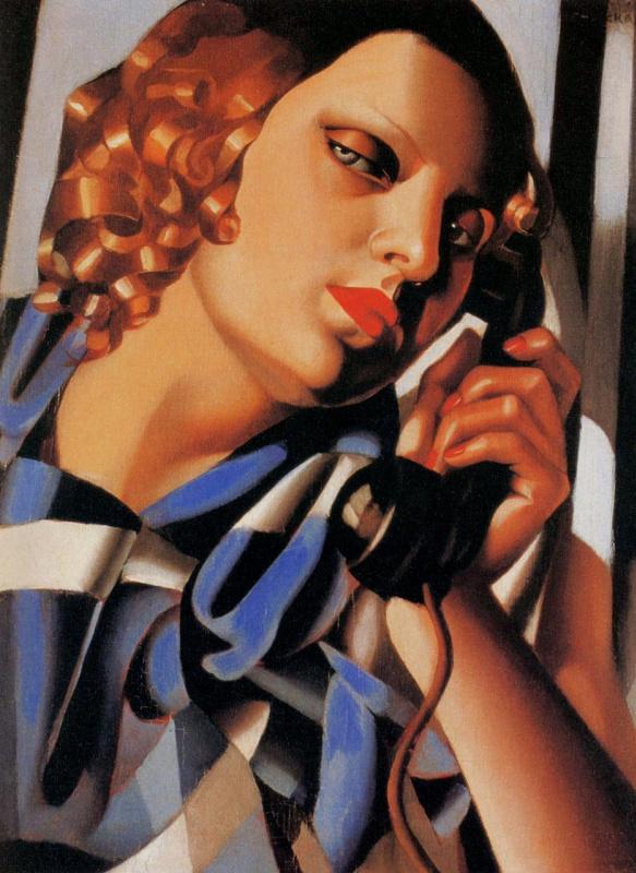 Тамара Лемпицка. Женщина с телефонной трубкой