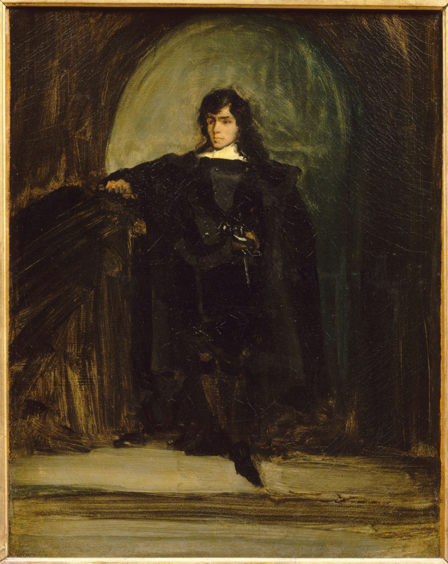 Self-portrait in the image of Edgar Ravenswood, or hamlet