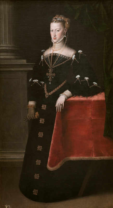 Антонис ван Дасхорст Мор. Императрица Мария Австрийская, жена Максимилиана II