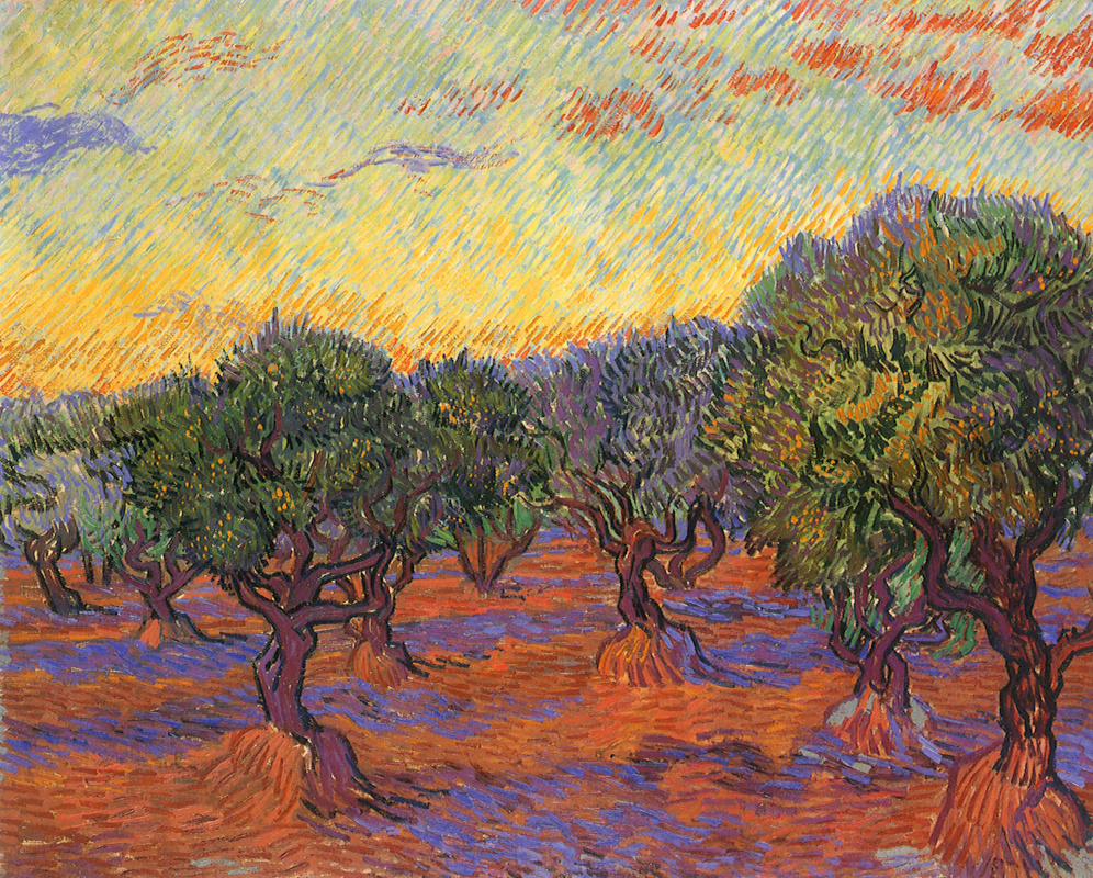 Винсент Ван Гог. Оливковая роща, оранжевое небо