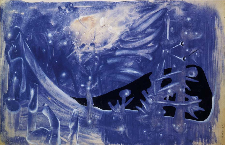 Роберто Себастьян Матта. Синяя композиция