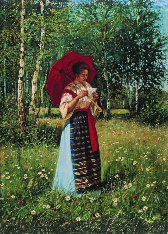 Nikolay Petrovich Bogdanov-Belsky. Reading the letter