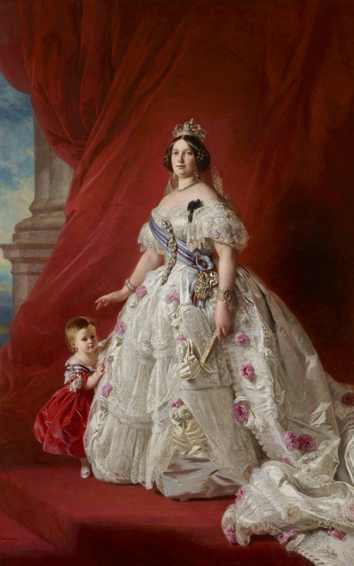 Franz Xaver Winterhalter. Queen of Spain Isabella II with her daughter Isabella, Princess of Asturias