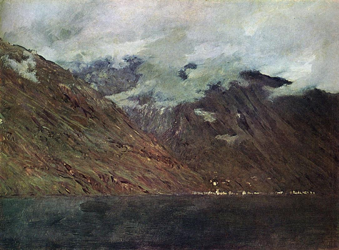 Исаак Ильич Левитан. Озеро Комо.  Этюд для картины того же названия