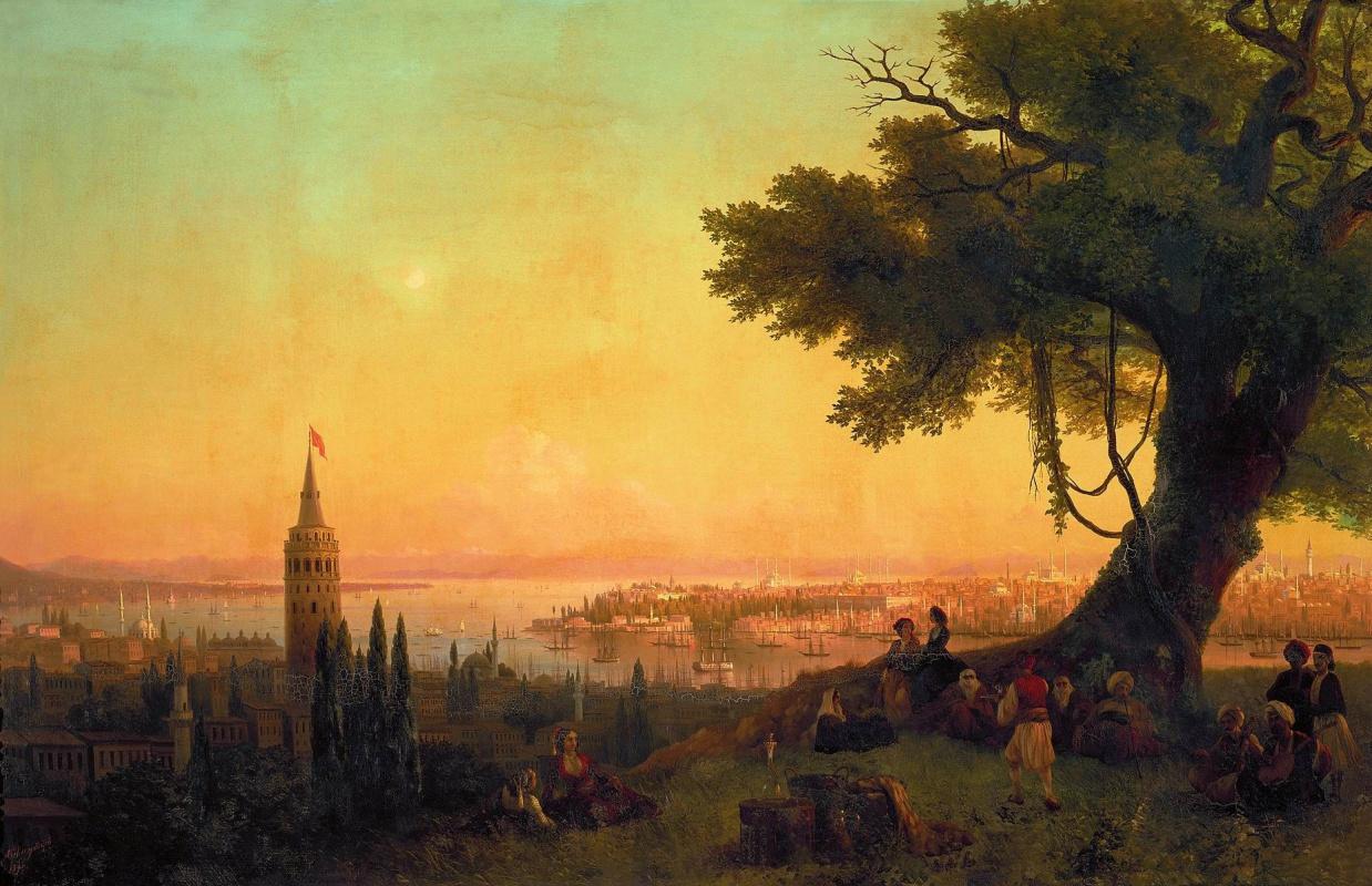 Иван Константинович Айвазовский. Вид Константинополя при вечернем освещении