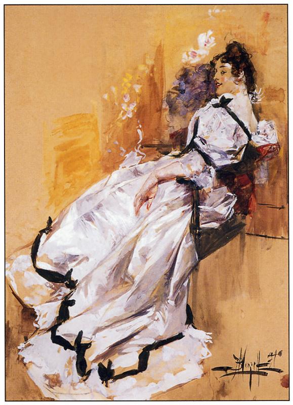 Альберт Бек Вензель. Дама в белом платье