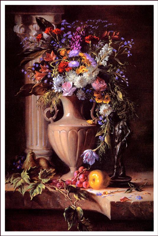 Джеймс Сулковский. Свежие цветы и фрукты