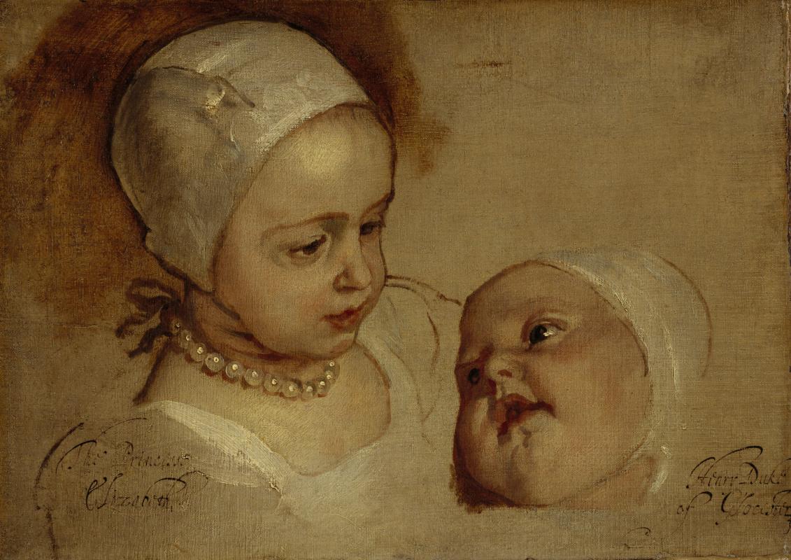 Антонис ван Дейк. Принцесса Элизабет и принцесса Анна, дочери Карла I