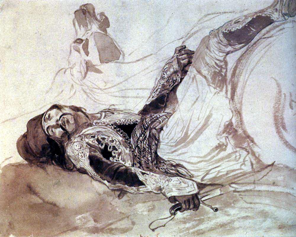 Карл Павлович Брюллов. Раненый грек, упавший с лошади