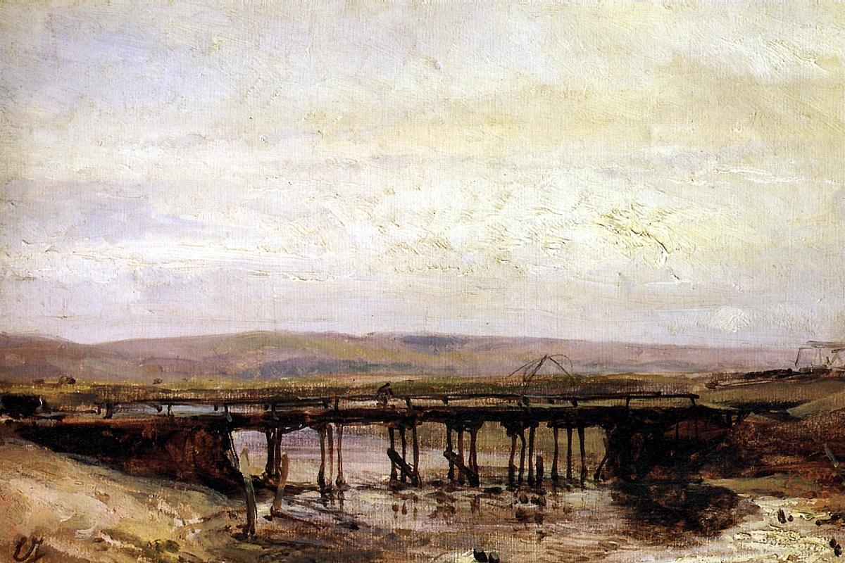 Эжен Изабэ. Деревянный мост