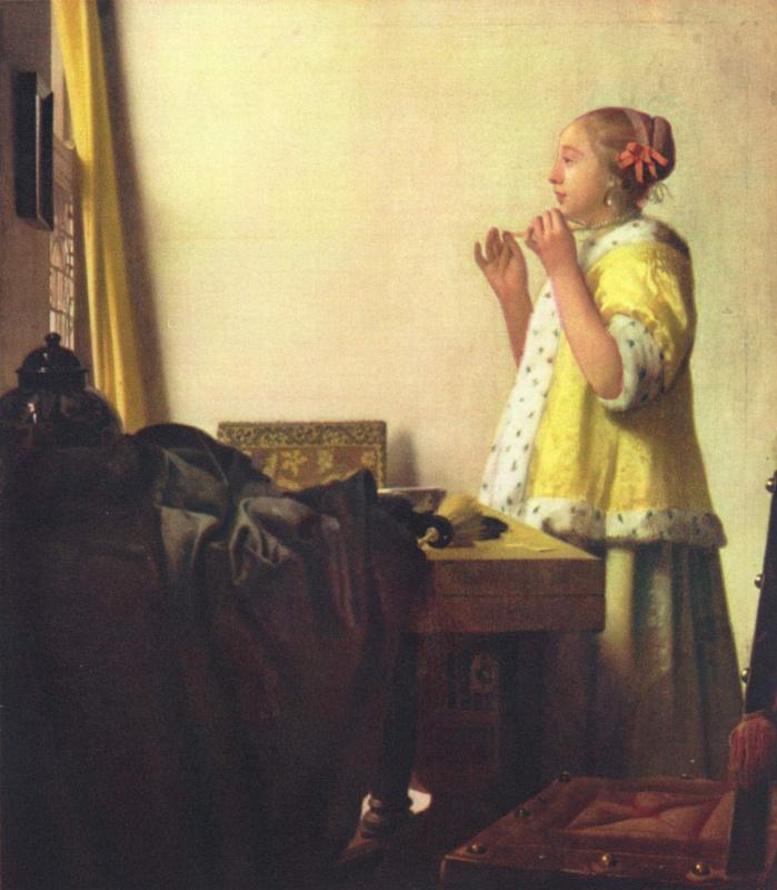 Девушка с жемчужным ожерельем
