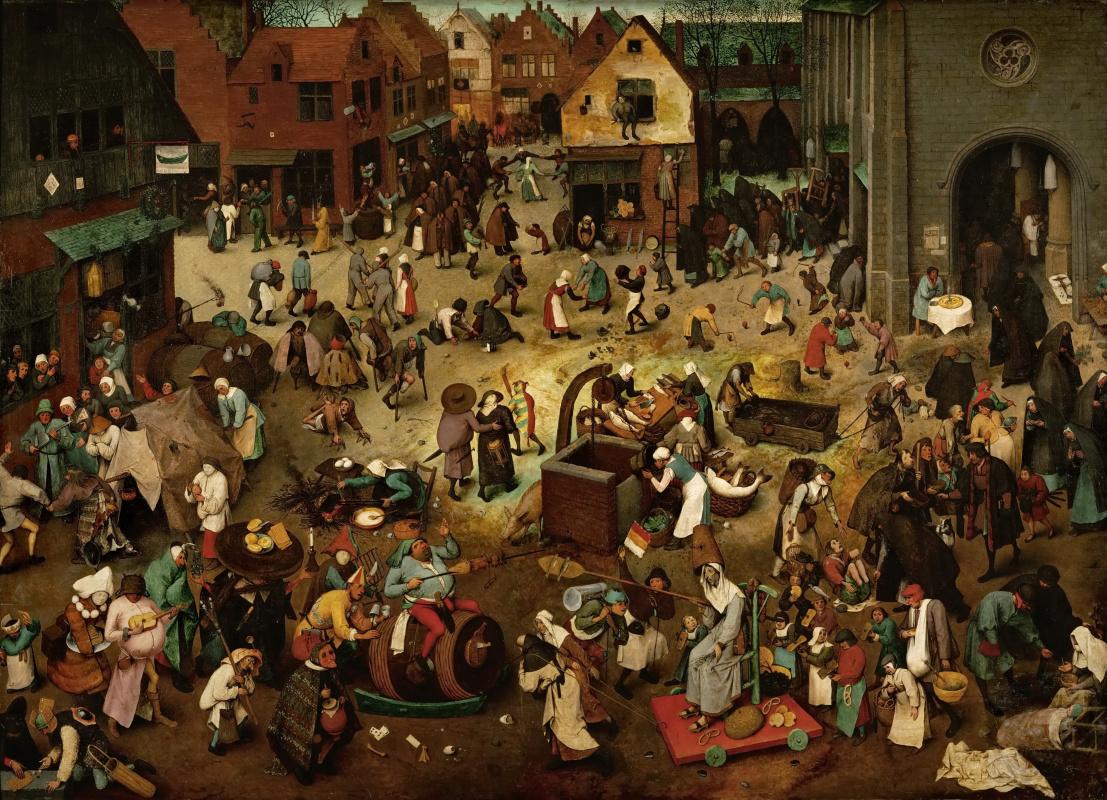 Pieter Bruegel The Elder. The Fight between Carnival and Lent