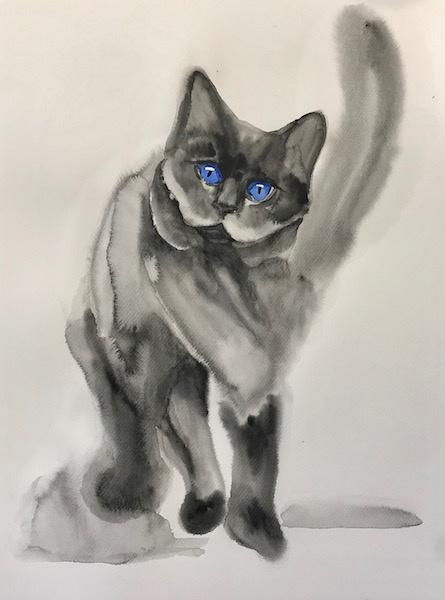 Larissa Lukaneva. Cat