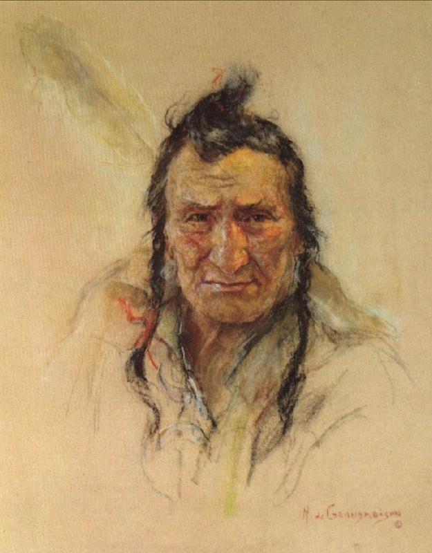 Индейский портрет 60