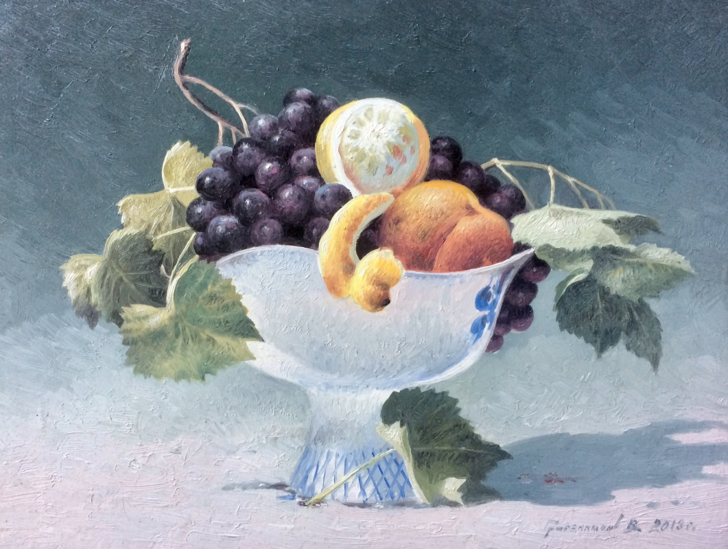 Vasily Ivanovich Gribennikov. Still life with a white vase