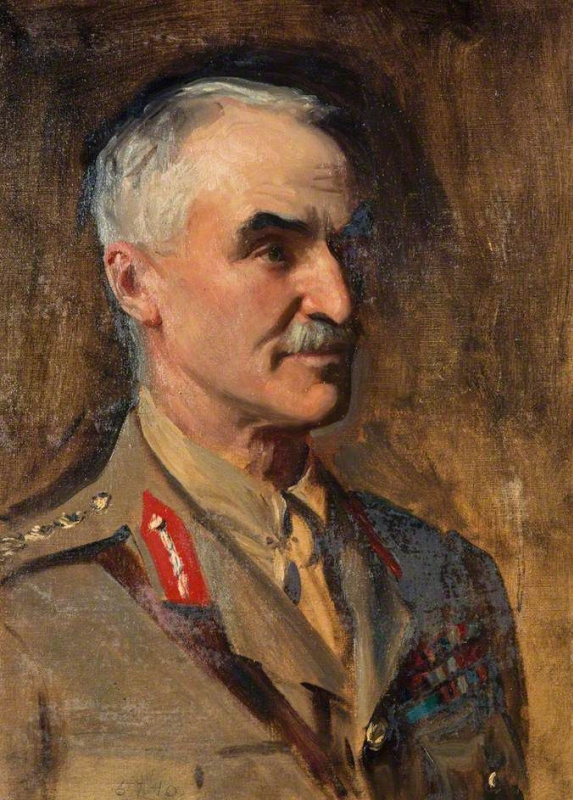 John Singer Sargent. Portrait of General Henry Sinclair, Baron Horne (study for the portrait of the officers of the First world war)