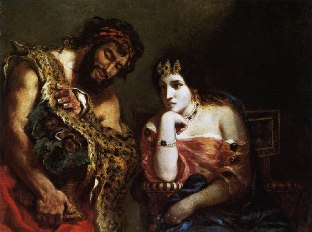 Eugene Delacroix. Cleopatra and the peasant