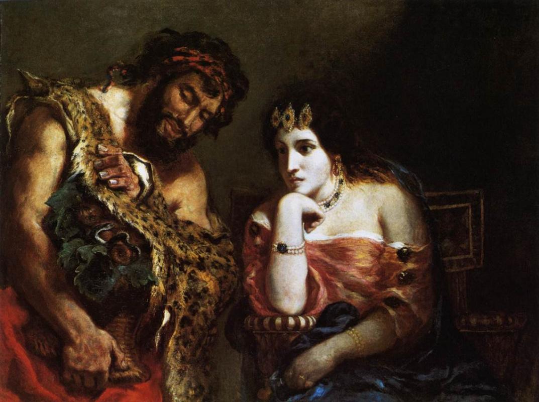 Эжен Делакруа. Клеопатра и крестьянин