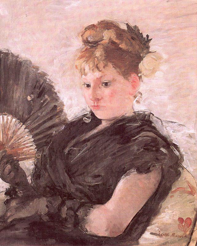 Berthe Morisot. Lady with a fan