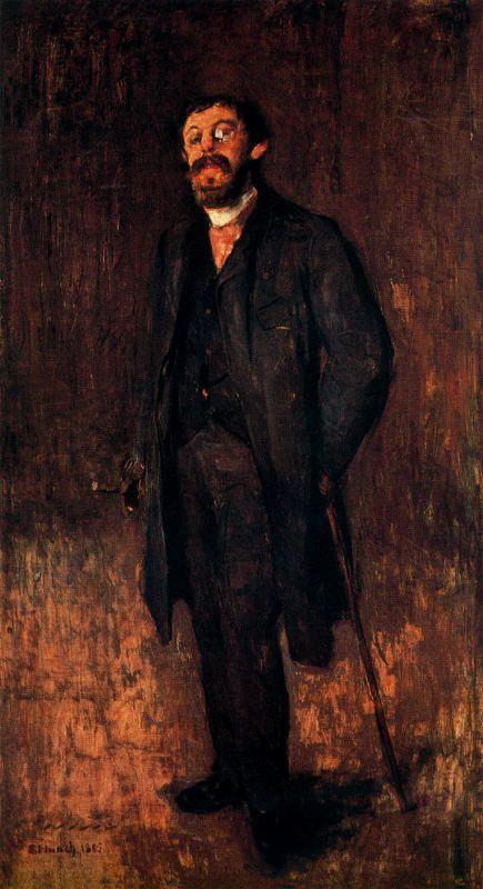 Edvard Munch. Portrait of the painter Jensen of Hella