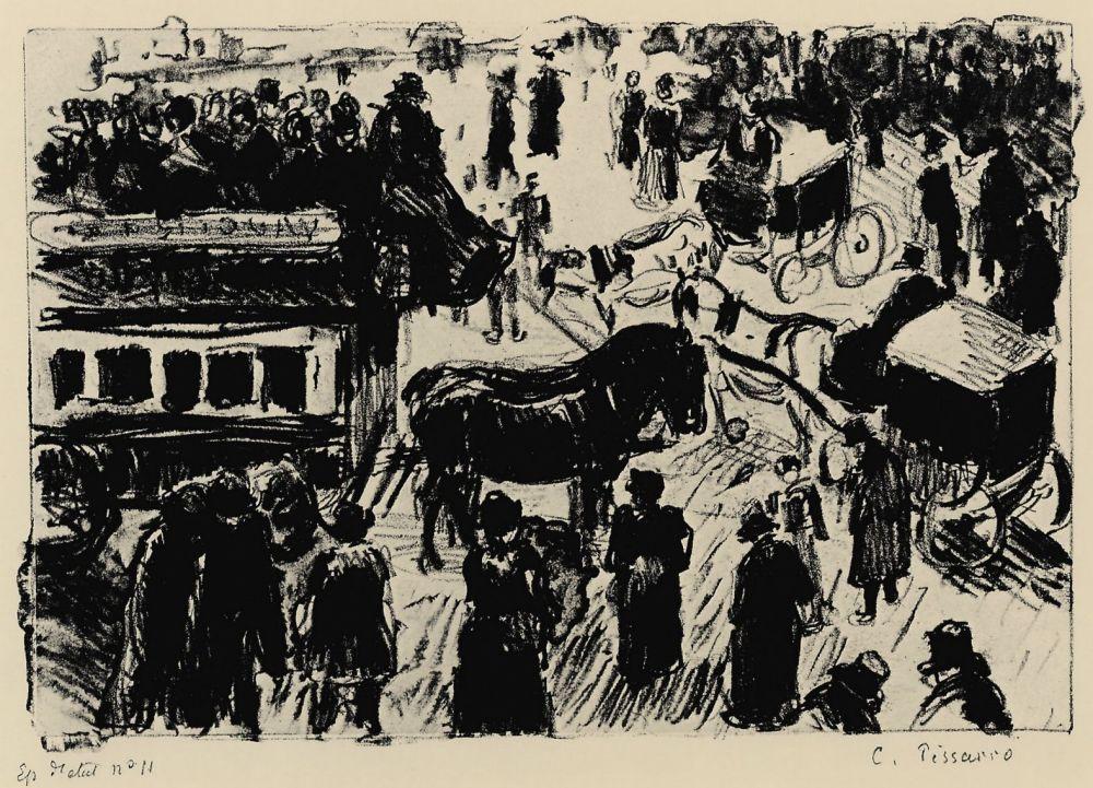 Камиль Писсарро. Гаврская площадь в Париже