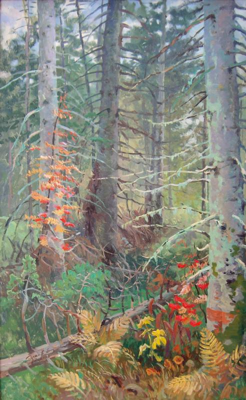Eugene Buchne. In the woods
