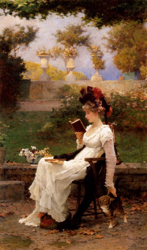 Маркус Стоун. Чтение в саду