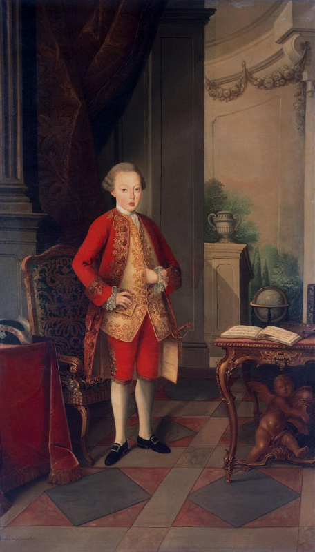 Miguel antónio do Amaral. Portrait of josé Prince of Brazil and Saranskogo
